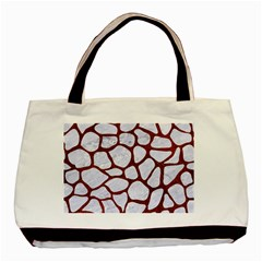 Skin1 White Marble & Reddish Brown Leather Basic Tote Bag by trendistuff