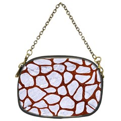 Skin1 White Marble & Reddish Brown Leather Chain Purses (one Side)  by trendistuff