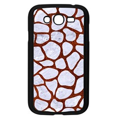 Skin1 White Marble & Reddish Brown Leather Samsung Galaxy Grand Duos I9082 Case (black) by trendistuff