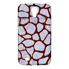 Skin1 White Marble & Reddish Brown Leather Samsung Galaxy Mega 6 3  I9200 Hardshell Case by trendistuff