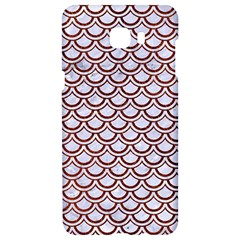 Scales2 White Marble & Reddish Brown Leather (r) Samsung C9 Pro Hardshell Case  by trendistuff