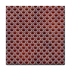 Scales2 White Marble & Reddish Brown Leather Tile Coasters by trendistuff