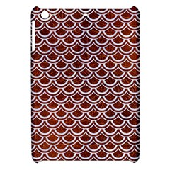 Scales2 White Marble & Reddish Brown Leather Apple Ipad Mini Hardshell Case by trendistuff