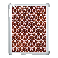 Scales2 White Marble & Reddish Brown Leather Apple Ipad 3/4 Case (white) by trendistuff