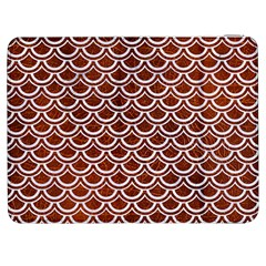 Scales2 White Marble & Reddish Brown Leather Samsung Galaxy Tab 7  P1000 Flip Case by trendistuff