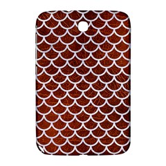 Scales1 White Marble & Reddish Brown Leather Samsung Galaxy Note 8 0 N5100 Hardshell Case  by trendistuff