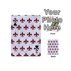 Royal1 White Marble & Reddish Brown Leather Playing Cards 54 (mini)  by trendistuff