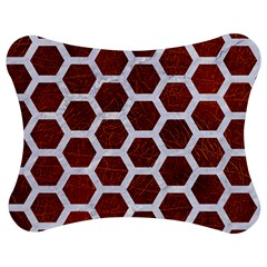 Hexagon2 White Marble & Reddish Brown Leather Jigsaw Puzzle Photo Stand (bow) by trendistuff