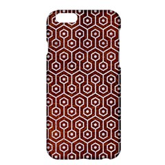 Hexagon1 White Marble & Reddish Brown Leather Apple Iphone 6 Plus/6s Plus Hardshell Case by trendistuff