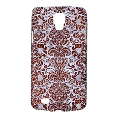 Damask2 White Marble & Reddish Brown Leather (r) Galaxy S4 Active by trendistuff