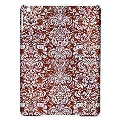 Damask2 White Marble & Reddish Brown Leather Ipad Air Hardshell Cases by trendistuff