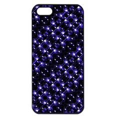 Dark Galaxy Stripes Pattern Apple Iphone 5 Seamless Case (black) by dflcprints