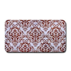 Damask1 White Marble & Reddish Brown Leather (r) Medium Bar Mats by trendistuff