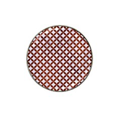 Circles3 White Marble & Reddish Brown Leather (r) Hat Clip Ball Marker (10 Pack) by trendistuff