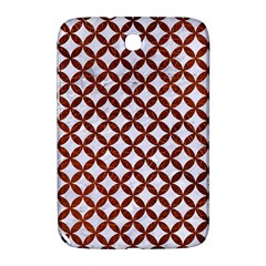 Circles3 White Marble & Reddish Brown Leather (r) Samsung Galaxy Note 8 0 N5100 Hardshell Case  by trendistuff