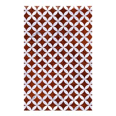 Circles3 White Marble & Reddish Brown Leather Shower Curtain 48  X 72  (small)  by trendistuff