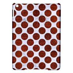 Circles2 White Marble & Reddish Brown Leather (r) Ipad Air Hardshell Cases by trendistuff