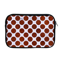 Circles2 White Marble & Reddish Brown Leather (r) Apple Macbook Pro 17  Zipper Case by trendistuff