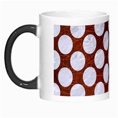 Circles2 White Marble & Reddish Brown Leatherer Morph Mugs by trendistuff