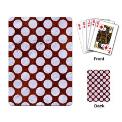 Circles2 White Marble & Reddish Brown Leatherer Playing Card