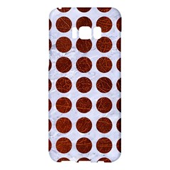 Circles1 White Marble & Reddish Brown Leather (r) Samsung Galaxy S8 Plus Hardshell Case  by trendistuff