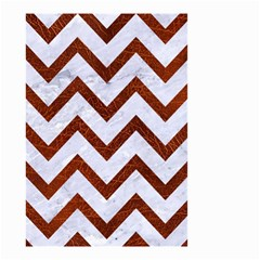 Chevron9 White Marble & Reddish Brown Leather (r) Small Garden Flag (two Sides) by trendistuff