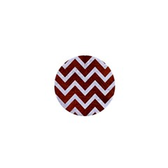 Chevron9 White Marble & Reddish Brown Leather 1  Mini Magnets by trendistuff