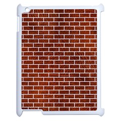 Brick1 White Marble & Reddish Brown Leather Apple Ipad 2 Case (white) by trendistuff