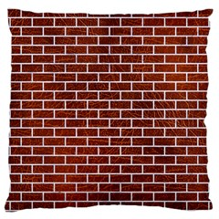 Brick1 White Marble & Reddish Brown Leather Large Cushion Case (two Sides) by trendistuff