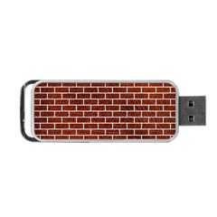 Brick1 White Marble & Reddish Brown Leather Portable Usb Flash (one Side) by trendistuff