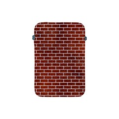Brick1 White Marble & Reddish Brown Leather Apple Ipad Mini Protective Soft Cases by trendistuff