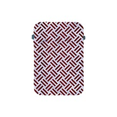 Woven2 White Marble & Red Wood (r) Apple Ipad Mini Protective Soft Cases by trendistuff