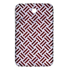 Woven2 White Marble & Red Wood (r) Samsung Galaxy Tab 3 (7 ) P3200 Hardshell Case  by trendistuff