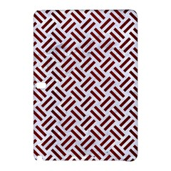 Woven2 White Marble & Red Wood (r) Samsung Galaxy Tab Pro 10 1 Hardshell Case by trendistuff