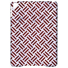 Woven2 White Marble & Red Wood (r) Apple Ipad Pro 9 7   Hardshell Case by trendistuff