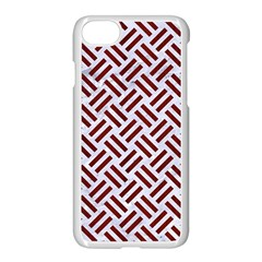 Woven2 White Marble & Red Wood (r) Apple Iphone 7 Seamless Case (white) by trendistuff