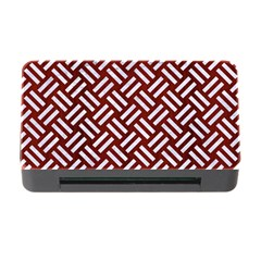 Woven2 White Marble & Red Wood Memory Card Reader With Cf by trendistuff