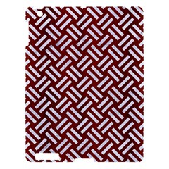 Woven2 White Marble & Red Wood Apple Ipad 3/4 Hardshell Case by trendistuff