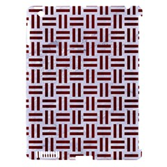 Woven1 White Marble & Red Wood (r) Apple Ipad 3/4 Hardshell Case (compatible With Smart Cover) by trendistuff