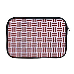 Woven1 White Marble & Red Wood (r) Apple Macbook Pro 17  Zipper Case by trendistuff