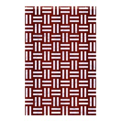 Woven1 White Marble & Red Wood Shower Curtain 48  X 72  (small)  by trendistuff