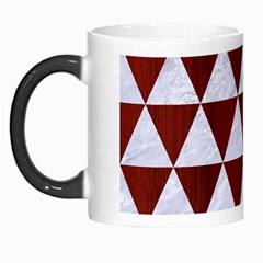 Triangle3 White Marble & Red Wood Morph Mugs by trendistuff
