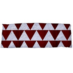 Triangle2 White Marble & Red Wood Body Pillow Case Dakimakura (two Sides) by trendistuff