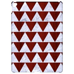Triangle2 White Marble & Red Wood Apple Ipad Pro 12 9   Hardshell Case by trendistuff
