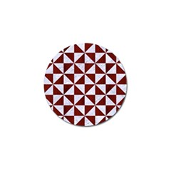 Triangle1 White Marble & Red Wood Golf Ball Marker (10 Pack)