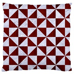 Triangle1 White Marble & Red Wood Large Cushion Case (two Sides) by trendistuff