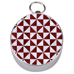 Triangle1 White Marble & Red Wood Silver Compasses by trendistuff
