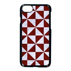 Triangle1 White Marble & Red Wood Apple Iphone 8 Seamless Case (black) by trendistuff