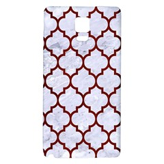 Tile1 White Marble & Red Wood (r) Galaxy Note 4 Back Case by trendistuff