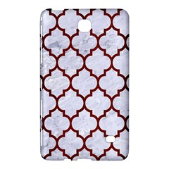 Tile1 White Marble & Red Wood (r) Samsung Galaxy Tab 4 (7 ) Hardshell Case  by trendistuff